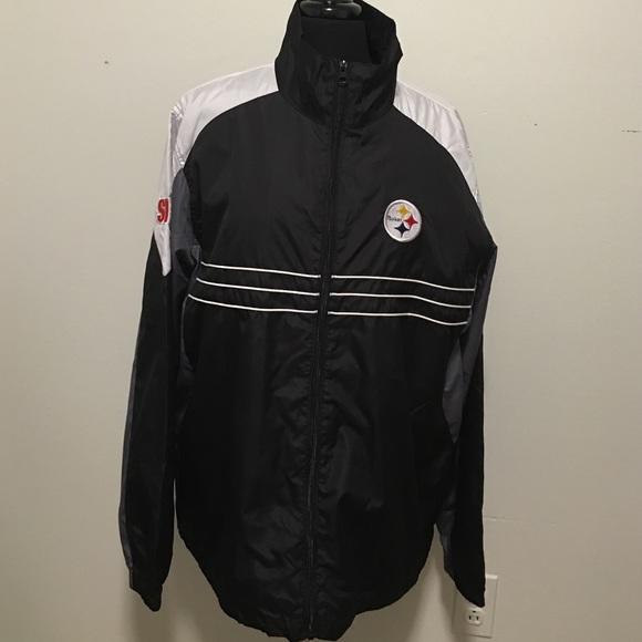 cheap for discount 35328 92d0d NFL steelers windbreaker Jacket Reebok