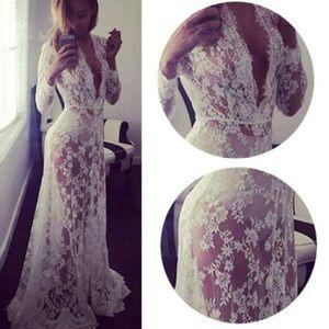 NWOT Sexy Long Lace Dress size M