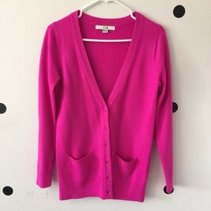 Forever 21 Sweaters - Forever 21 bright pink cardigan