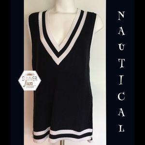 89th & Madison Sweaters - 89th & Madison Nautical Sweater Vest