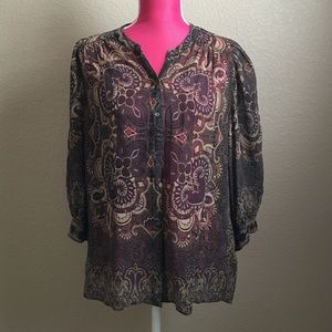 Joie Tops - Joie brown Paisley Blouse