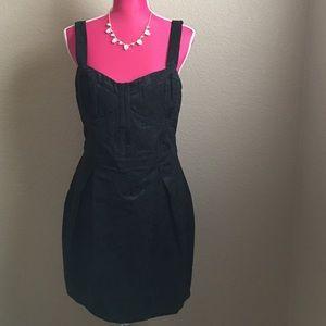 Bardot Dresses & Skirts - Black Brocade Tulip Dress