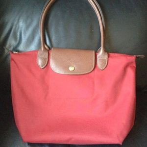 Authentic Le Pliage Red Small Longchamp Purse
