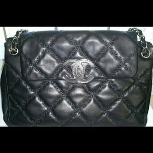 Authentic Chanel lambskin bag