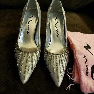Shoes - Beaded heels