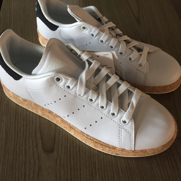 *NWT* Adidas Stan Smith Luxe Leather Cork Midsole