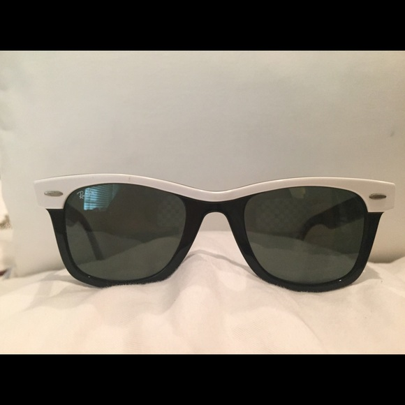 Ray-Ban Accessories - Ray Ban wayfarer black sunglasses with white trim