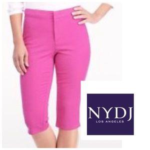 NYDJ Pants - NYDJ Skimmer hot pink Cactus Flower NWT sz  4 & 8
