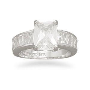 Jewelry - Cubic zirconia ring, Size 6