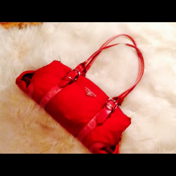 prada tessuto bag price - Red Prada nylons on Poshmark
