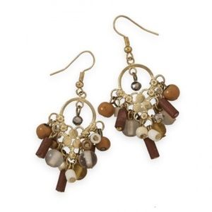 Jewelry - Multi-bead drop fashion earrings