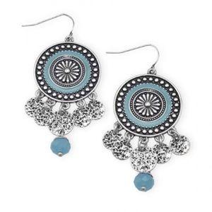 Jewelry - Southwestern disc drop earrings