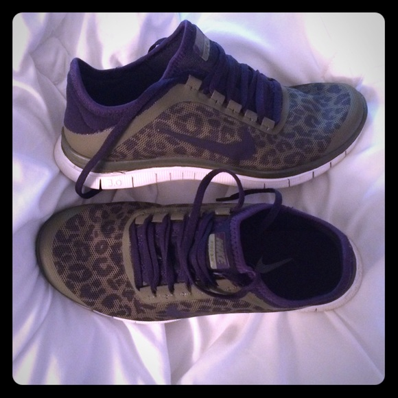 low priced 350b0 e66d9 Nike Shoes - Olive greenpurple leopard print Nikes