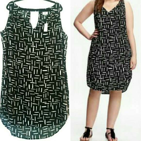 Dresses | Old Navy 2x Black Plus Size Dress New With Tag | Poshmark