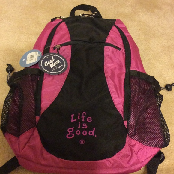 88f00d86ad85 Handbags - NWT Life is good backpack