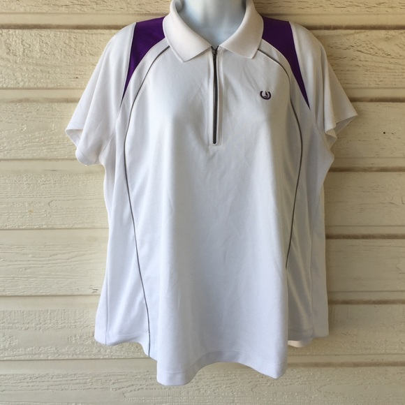 67 off tops ladies xxl polyester golf shirt from april for Womens golf shirts xxl