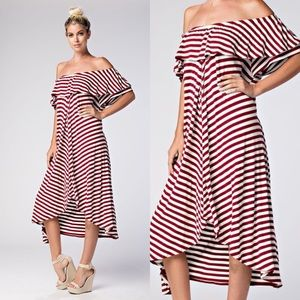 Dresses & Skirts - Off The Shoulder Maxi
