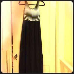 Summer dress, short under skirt w long cthru sheer