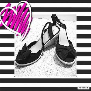 Diba Shoes - 🎉HOST PICK🎉 Black Bow Wedges 🎀