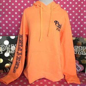 🚫SOLD🚫🆕VS PINK orange high low pullover hoodie