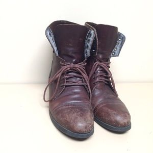 Vintage Shoes - Brown Leather Riding Boots