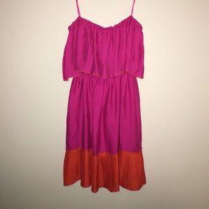 Max & Cleo Dresses & Skirts - NWT Max and Cleo Pink Orange Pleated Dress XXS