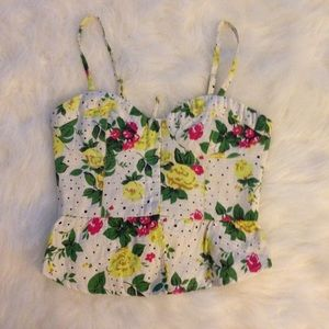Urban Outfitters Corset Floral Bustier Top XS