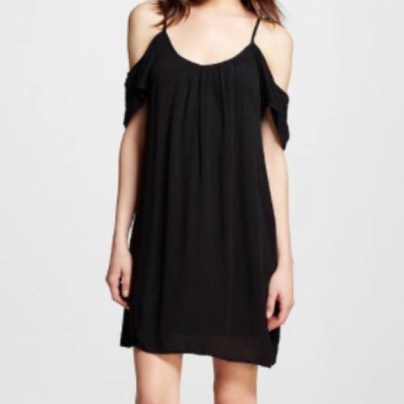 Xhilaration Dresses Black Shoulderless Sheath Dress Poshmark