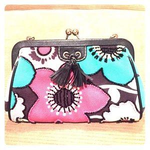 Isabella Fiore Handbags - Isabella Fiore Floral Beaded Clutch