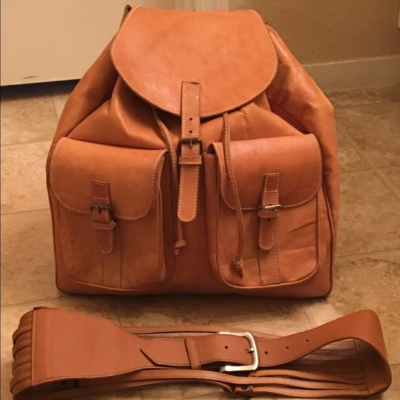 Clava - Clava vachetta tan leather backpack from Ifeoma's closet ...