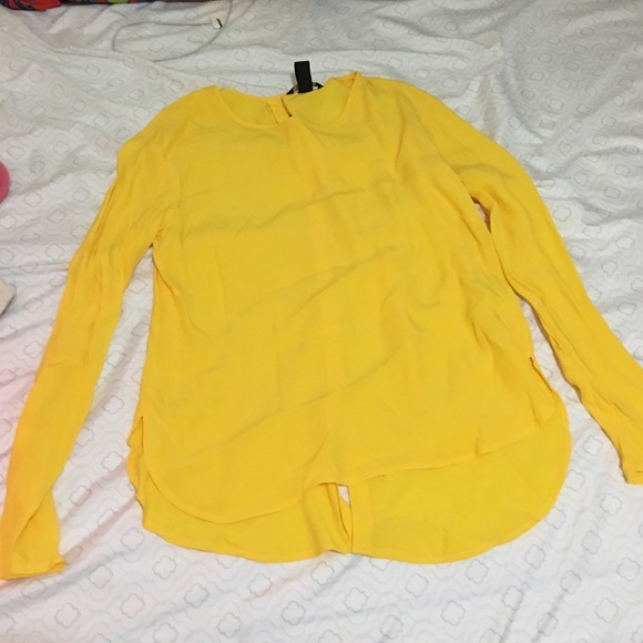 9d3d0cbcca54ec H M Tops - H and m yellow long sleeve