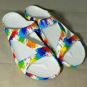 Dawgs Shoes - DAWGS *nwot*Sz 10 'Loud Mouth Z' Dropcloth Sandals