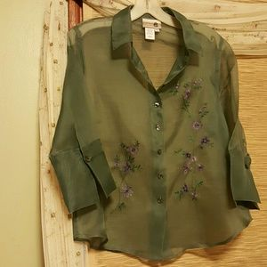 Coldwater Creek silk blouse nwot