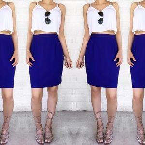 Vintage Dresses & Skirts - Vintage blue skirt