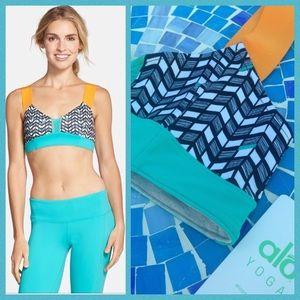 ALO Yoga Other - NEW!  ALO Yoga reversible bra in flame orange/Aqua