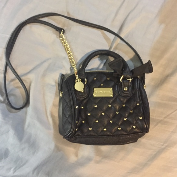 Betsey Johnson Betsey Johnson Mini Black Crossbody Bag