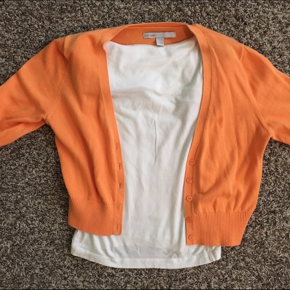64% off Old Navy Sweaters - Old Navy Orange Summer Cardigan from ...