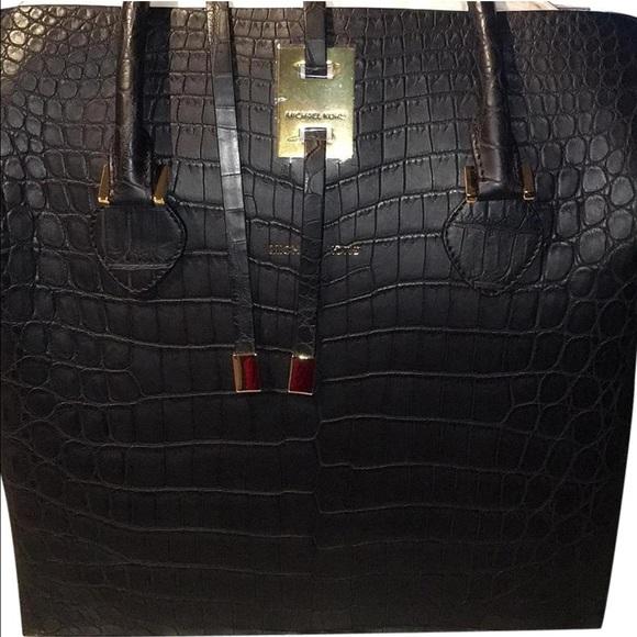 4461f49a6119 Michael Kors collection Miranda crocodile bag