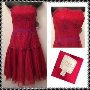 Marchesa Dresses & Skirts - Hot Pink/Red party dress Pearl Georgina Chapman 10