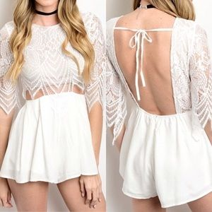 ☆ White Lace Romper