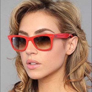 Red Wayfarer Ray-Ban Rare Print Special Series #11