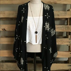 Black Boho Kimono