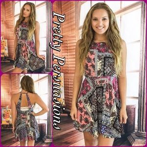 Pretty Persuasions Dresses & Skirts - LAST ONE SALE💞Pink & Black Paisley Halter Dress