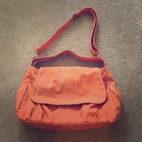 1b5d23c79a11 Handbags - Orange Canvas Messenger Bag
