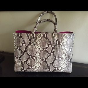 ALBERTA DI CANIO Leather, Snake Embossed Bag