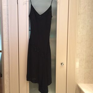J Kara Dresses & Skirts - Black chiffon dress with beading