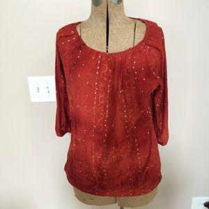 Tops - Sienna Grace burgundy top