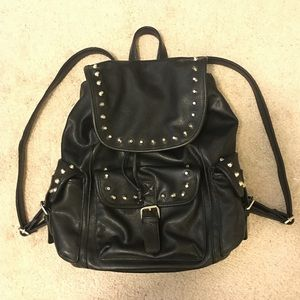 Forever 21 Handbags - Studded Black Backpack