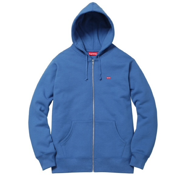 9405a440a0018 Supreme small box logo zip up hoodie