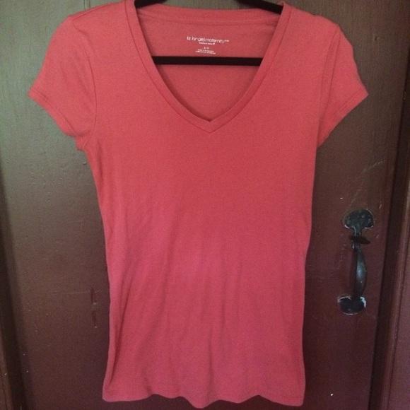23a3d7f8 Liz Lange for Target Tops | Maternity V Neck Coral Tshirt | Poshmark